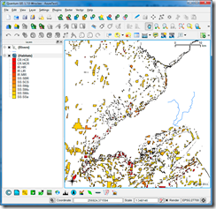 SQL Azure polygons thematically mapped in QGIS