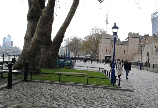 The Thames Path near the Tower of London