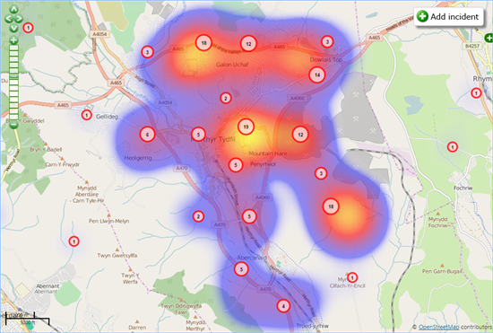 FlyMapper heat map