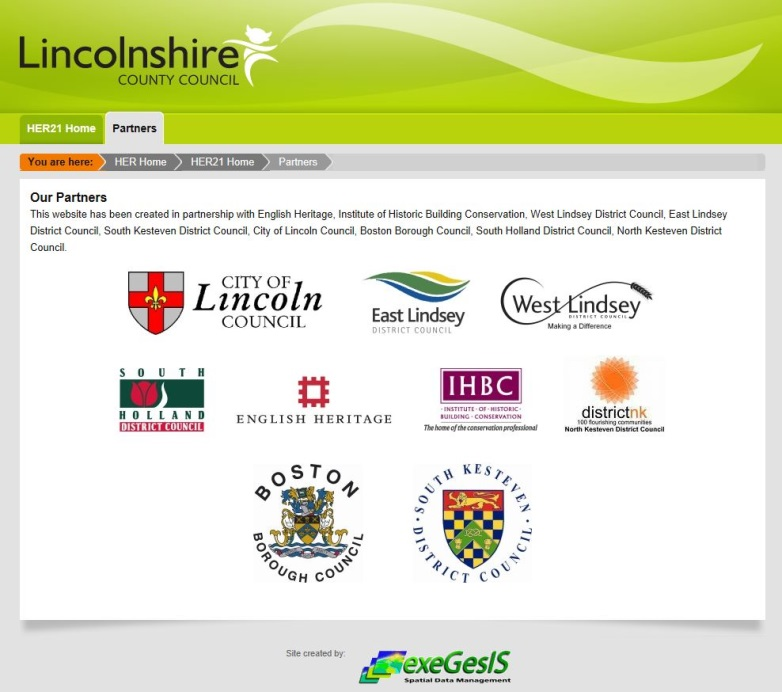 Lincolnshire County Council HER21 partners
