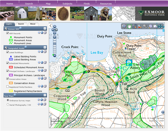 exeGesIS Web Map Toolkit screenshot - click to visit the actual site