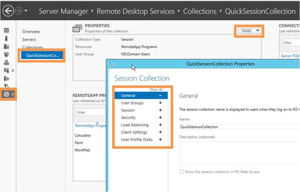 Server 2012 setting up remote gateway, remote desktop and RemoteApp