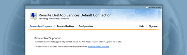When RD Web Access doesn't work with Internet Explorer 11 - exeGesIS
