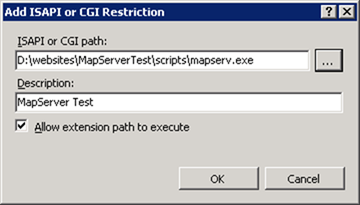 MapServer CGI web service extension