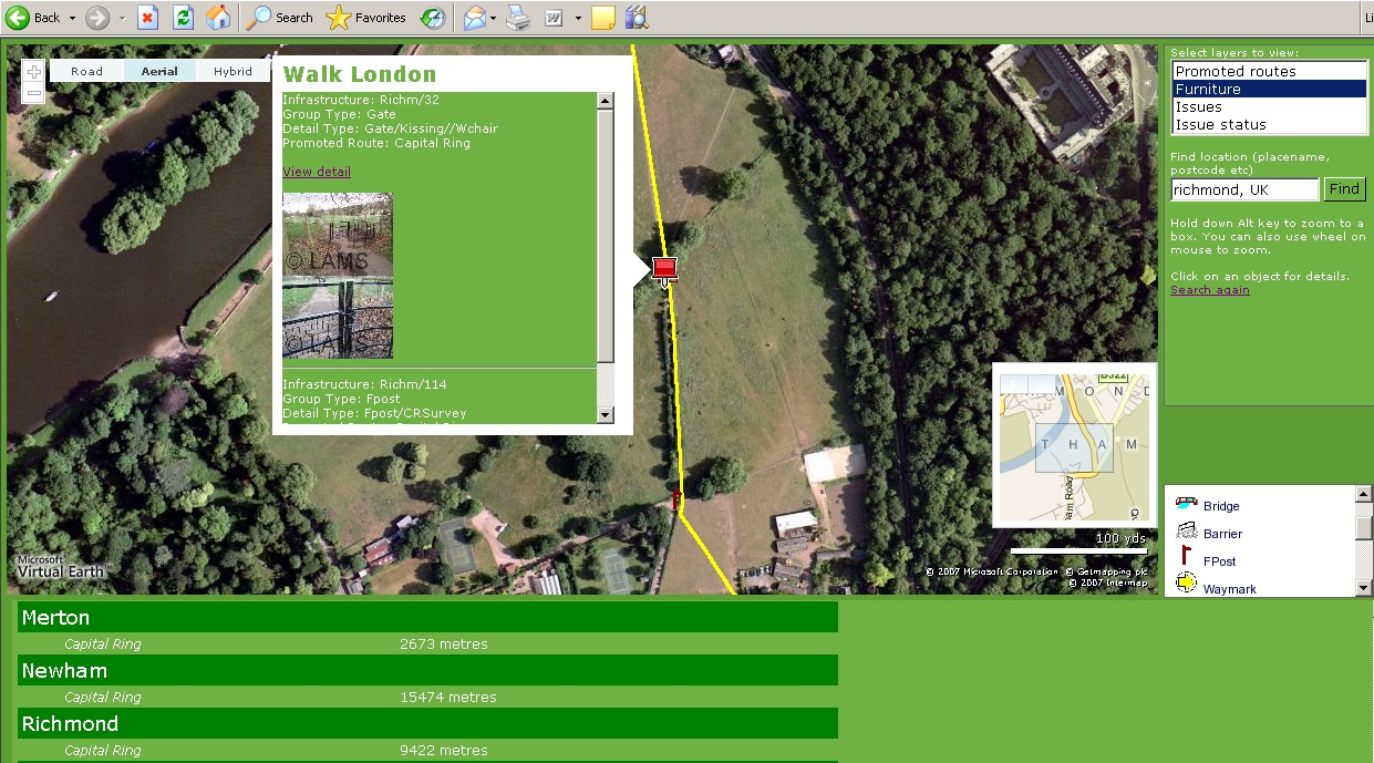 Webmapping for Walk London
