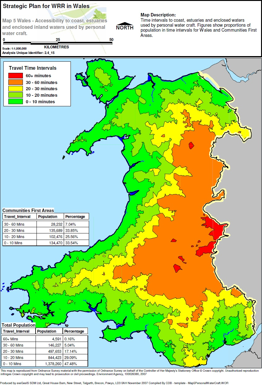 Mapping of water recreational use for DEFRA